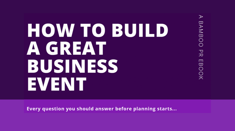 How to run a blockbuster business event