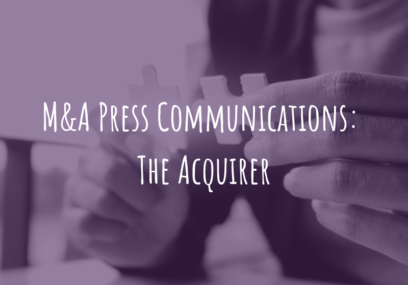 M&A Press Communications: The Acquirer